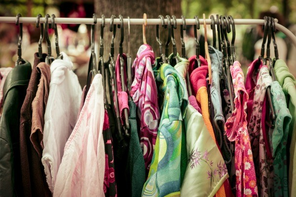 Displaying Clothes at a Yard Sale | ThriftyFun on homemade round clothes rack for garage sale, yard sale, ghetto garage sale, ideas for garage to hang clothes on sale,