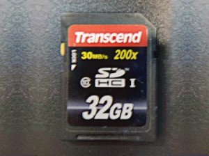 A SD card for storing data.