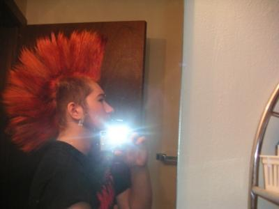 Using Glue to Make a Mohawk with Spikes