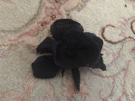 Mini Flower Crop Top from Leggings - create leaves and petals from remaining scraps and sew onto the flower base