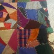 Value of 1898 Quilt Top - antique crazy quilt top