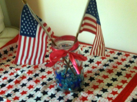 Patriotic Decorative Jar
