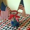 Patriotic Decorative Jar
