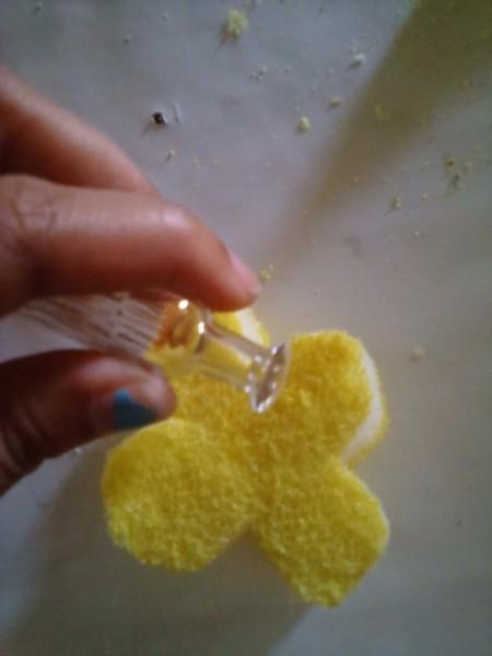 Sponge Car Air Freshener - add essential oil