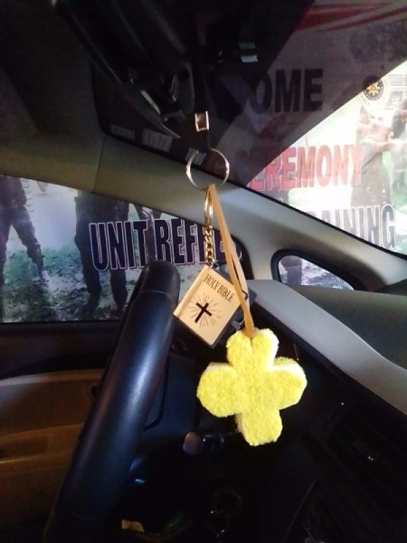 Sponge Car Air Freshener - hang on rear view mirror