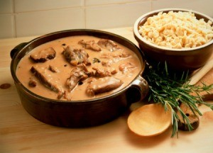 Canned Venison in Stew pot