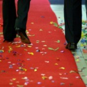 Confetti on Red Carpet