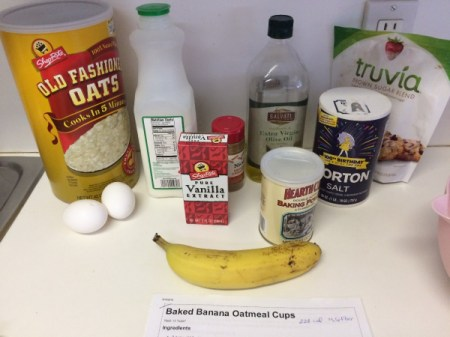 Baked Banana Oatmeal Cups ingredients