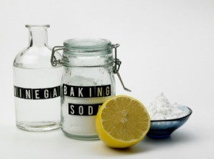 Vinegar, baking soda, and lemon