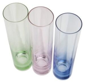 Plastic Cylinder Vases