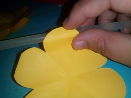 Layered Paper Flowers - roll the petals backwards over a pen or paintbrush handle