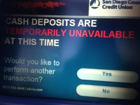 Count Cash Before Inserting into ATM