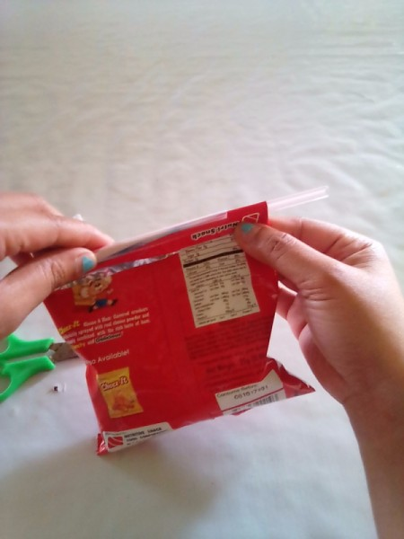 Sealing Food Packaging with a Drinking Straw