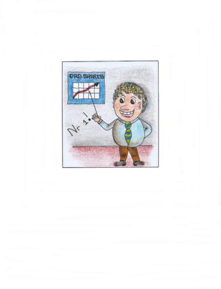 Homemade #1 Dad Card - cartoon