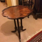 Value of Mersman Table Number 8048 - three legged table with scalloped top edge