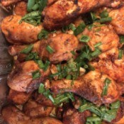 Healthy Baked Drumsticks ready to serve