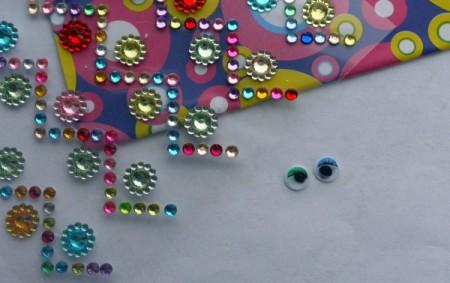 Dragonfly Fridge Magnet - supplies, stick on jewels