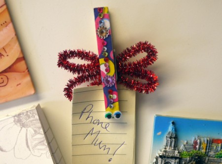Dragonfly Fridge Magnet - use your clip to hold small papers or receipts