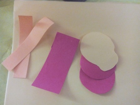 Father's Day Rock Art - cut circles for cap and hat as well as some strips of paper