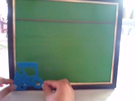 Frame of Shades for Father's Day - make decorations