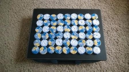 Crocheted Yo Yo Place Mat - underside