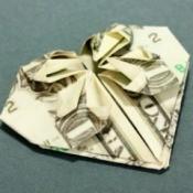 Dollar Origami Heart