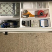 Organize Desk Drawer with Flatware Tray - tray in drawer