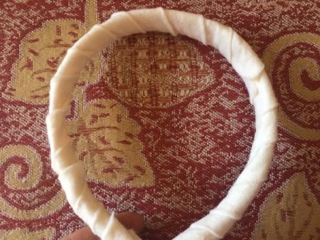DIY Unicorn Headband - wrapped headband