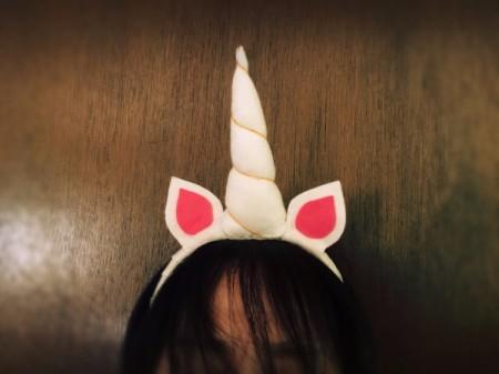 DIY Unicorn Headband -  view from front