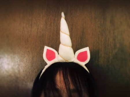DIY Unicorn Headband -  view from front