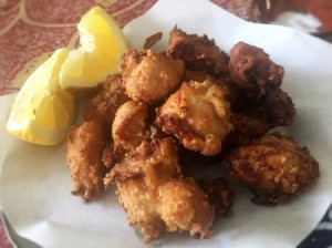 Japanese Style Fried Chicken (Karate) on plate
