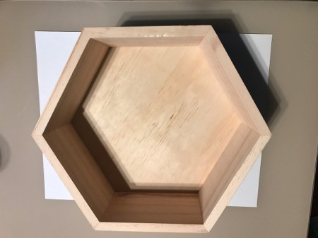 Honeycomb Hexagon  Personalized Shelf - use a piece of paper to make template