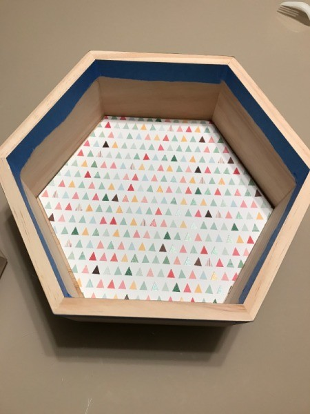 Honeycomb Hexagon Personalized Shelf - other optional paper