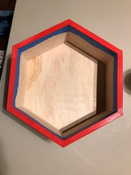 Honeycomb Hexagon  -Personalized Shelf - paint the edge