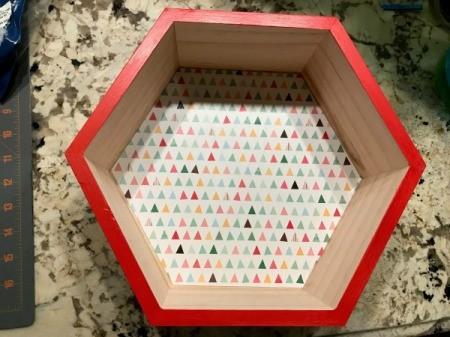 Honeycomb Hexagon Personalized Shelf - remove tape