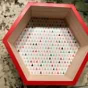 Honeycomb Hexagon Personalized Shelf