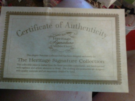 Value of a Heritage Signature Collection Doll