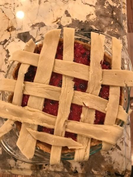 weaving pie crust strips