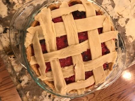 weaved pie crust strips