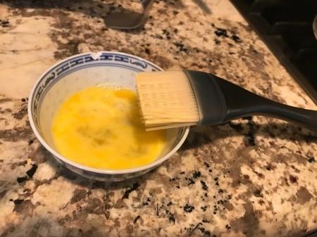 egg wash in bowl
