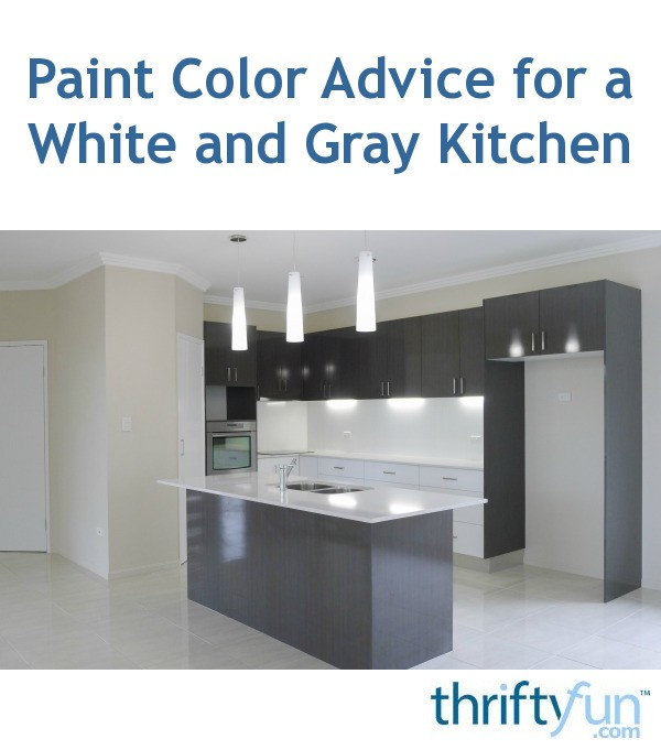 Paint Color Advice For A White And Gray Kitchen Thriftyfun