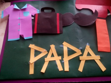Describing My Dad Card - use them to spell out Papa