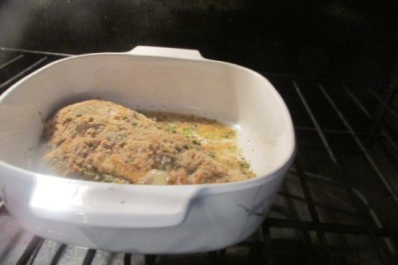 Creamy Caesar Herb Crusted Haddock ready to bake