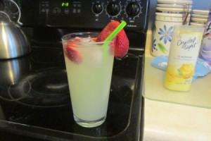 Strawberry Lemonade in glass