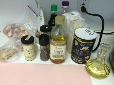 Easy Sesame Chicken ingredients