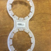 Useful Way to Recycle Multipack Bottle Handles - double neck bottle handle