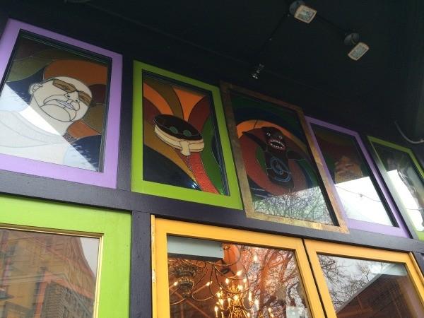 Visting Voodoo Doughnuts (Portland, OR) - glass artwork