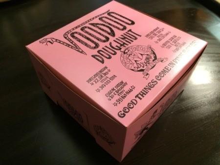 Visting Voodoo Doughnuts (Portland, OR) - closeup of box