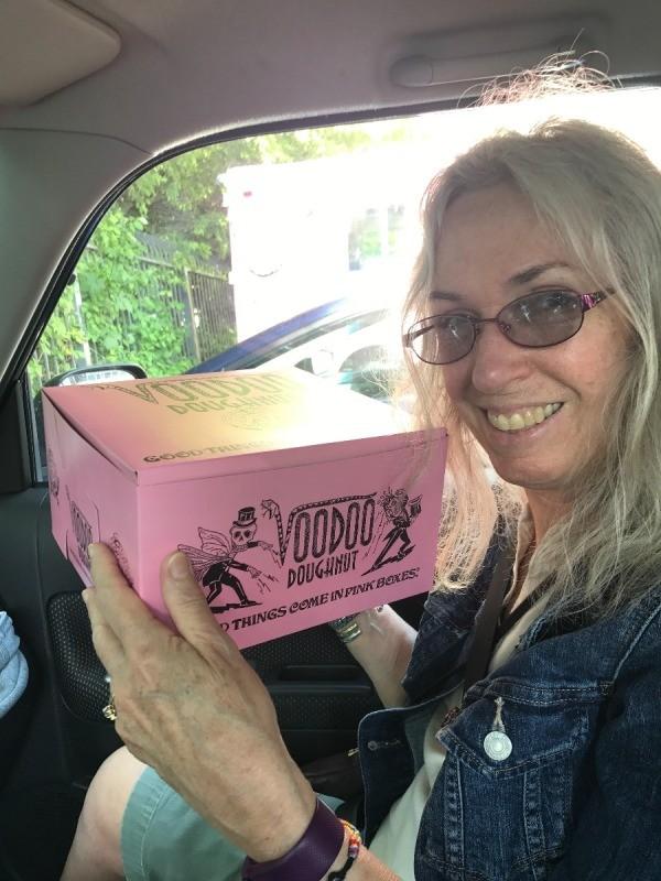 Visting Voodoo Doughnuts (Portland, OR) - take away box