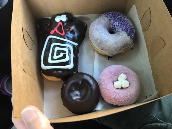 Visting Voodoo Doughnuts (Portland, OR) - donuts in box